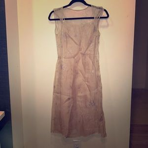 BCBG see through silk dress with slip